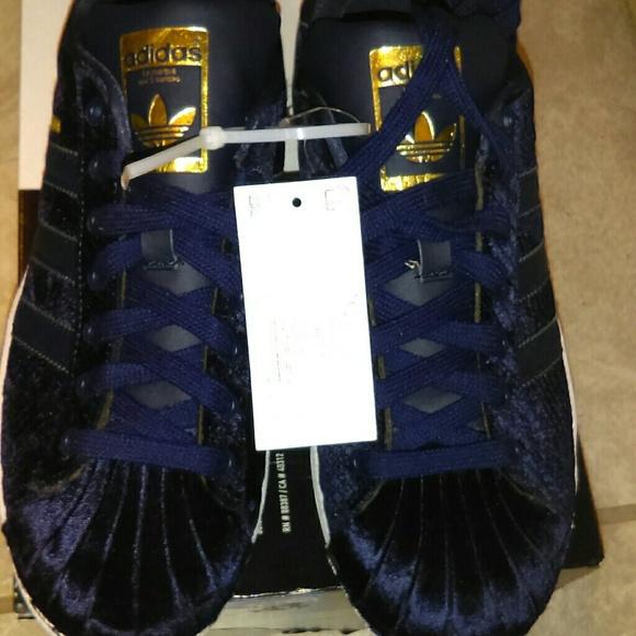 adidas superstar blue velvet- OFF 61